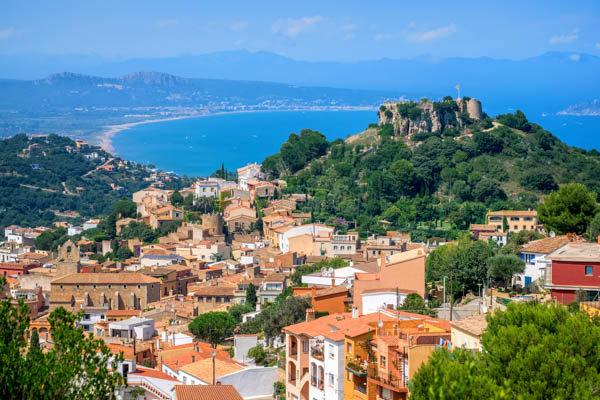 Medieval town of Begur in the Costa Brava, Spain