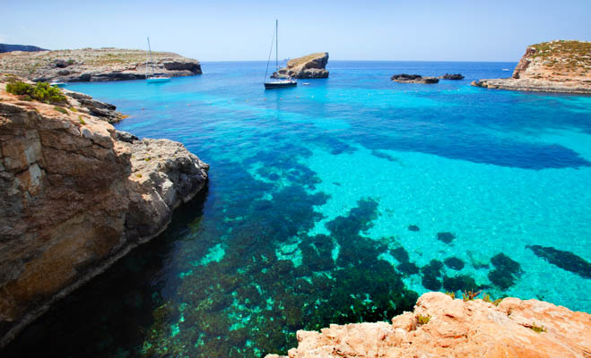 Blue Lagoon on Comino Island, Malta