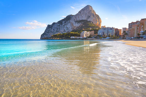 Penon de Ifach rock in Calpe, Costa Blanca, Spain