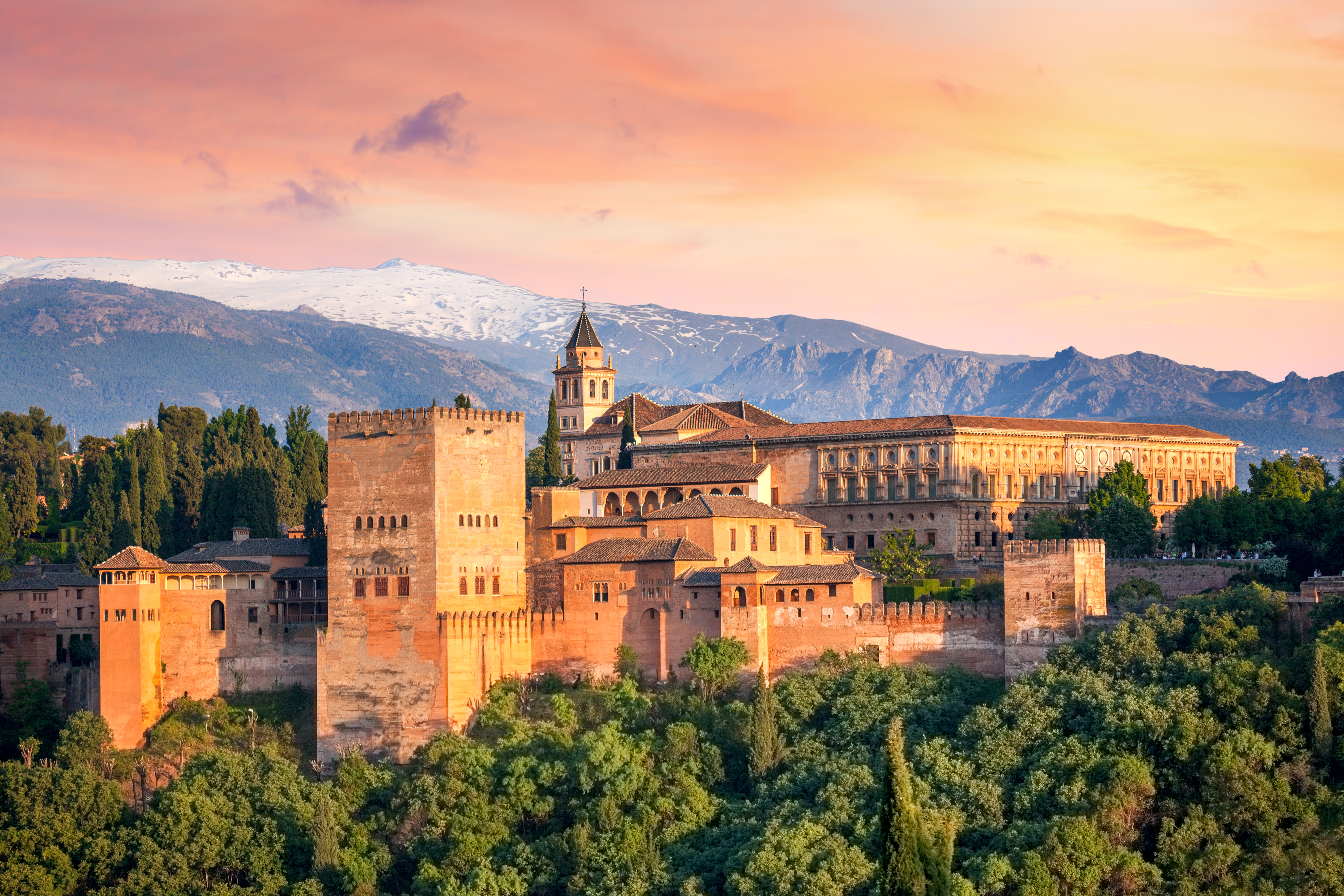 Alhambra Palace in Granada, Andalucia