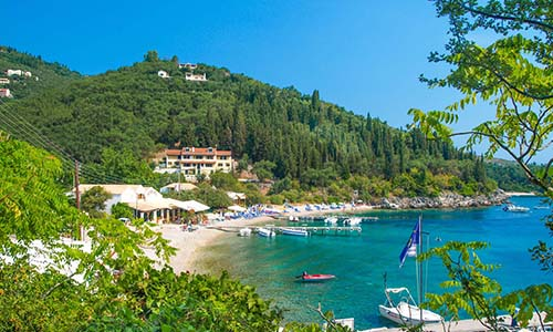 Agni Bay Beach in Corfu, Greece
