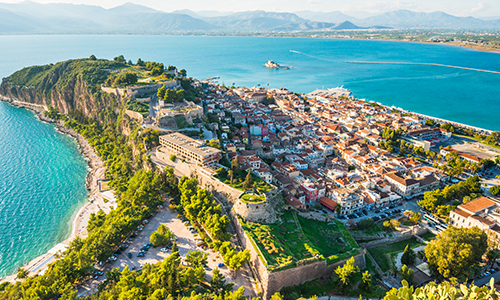 Aerial view of Peloponnese, Greece