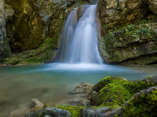 Nidri Waterfall in Lefkas, Lefkada, Greece