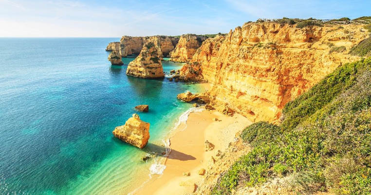 Praia de Marina Beach in the Algarve, Portugal